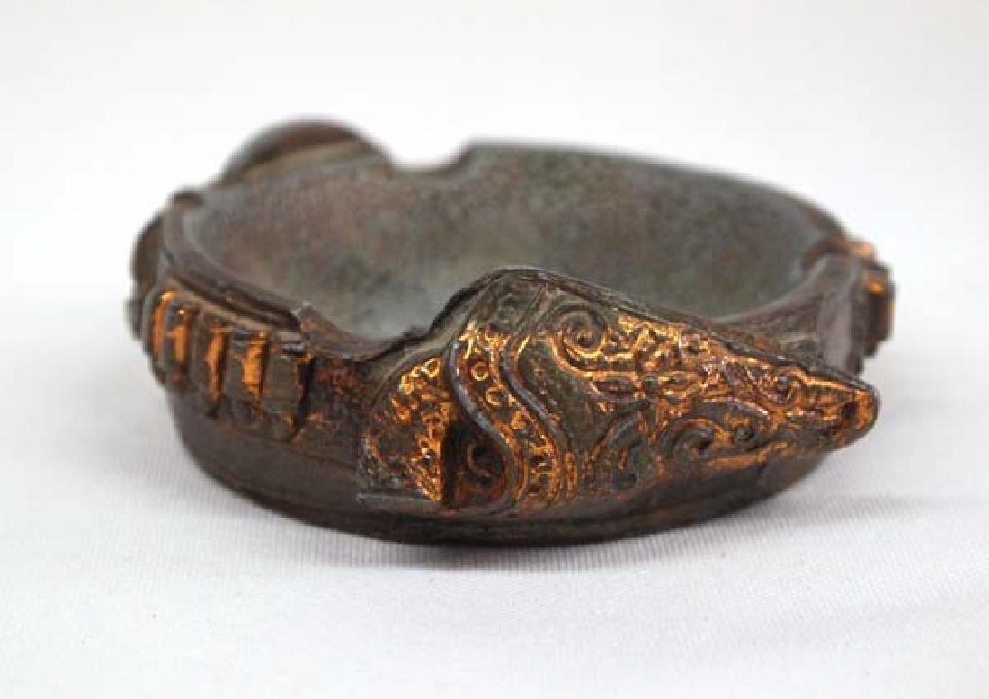 1930's Copper Gun Belt Ashtray - 2