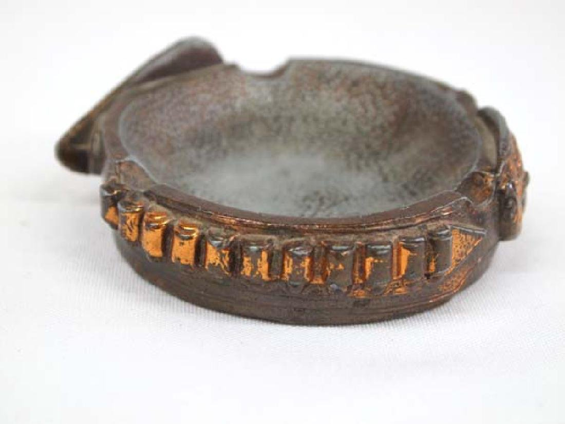 1930's Copper Gun Belt Ashtray - 3