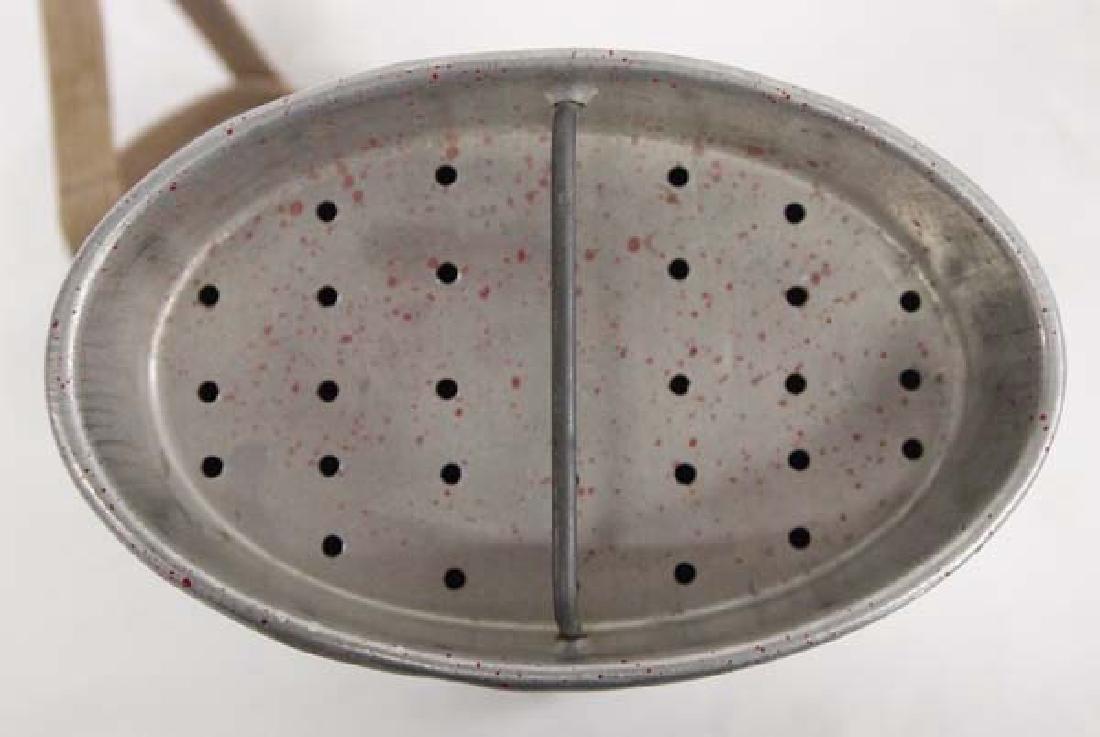 Vintage Old Pal Galvanized Tin Minnow Bucket - 3