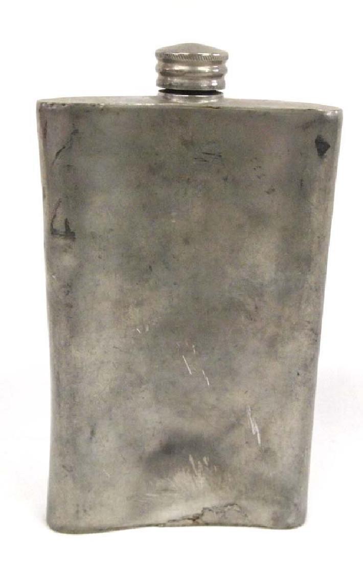 Antique Sheffield Back Pocket Whiskey Flask - 2