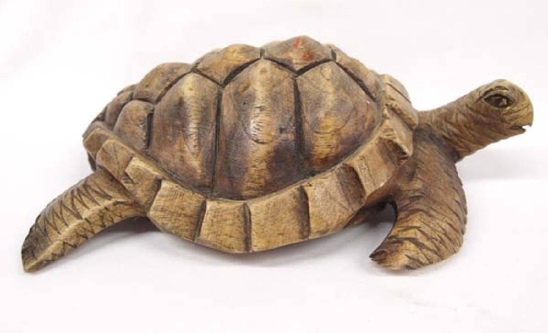 Carved Wooden Turtle