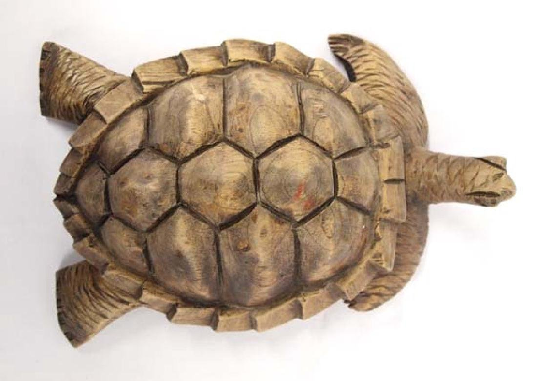 Carved Wooden Turtle - 3