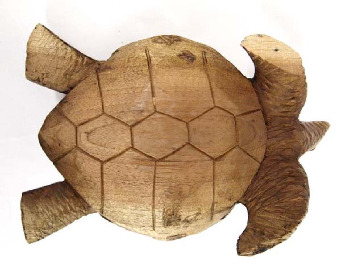 Carved Wooden Turtle - 4