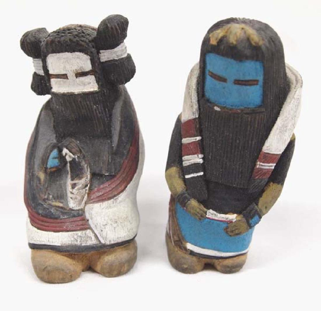 Zuni Hand Carved Man & Woman Kachinas by Vance Sanchez
