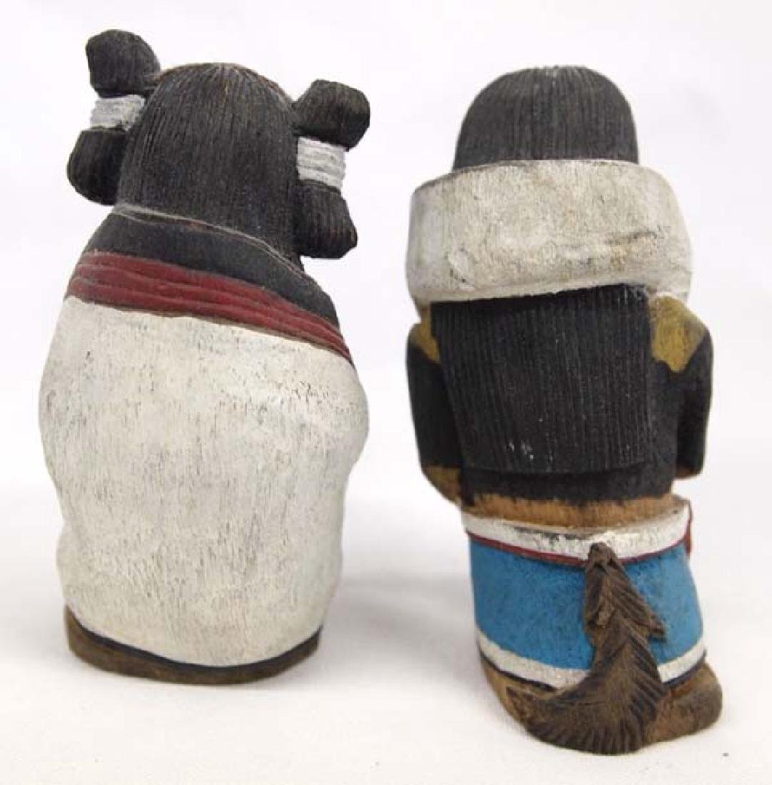 Zuni Hand Carved Man & Woman Kachinas by Vance Sanchez - 2