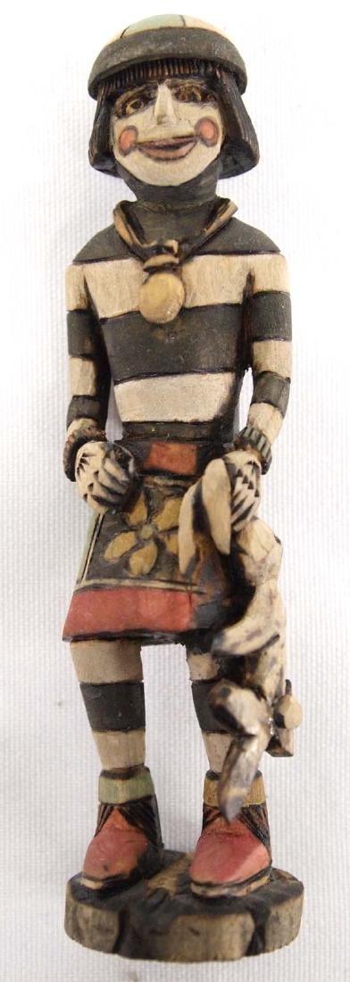 Hopi Carved Wood Koshare Clown Kachina by Dewayne