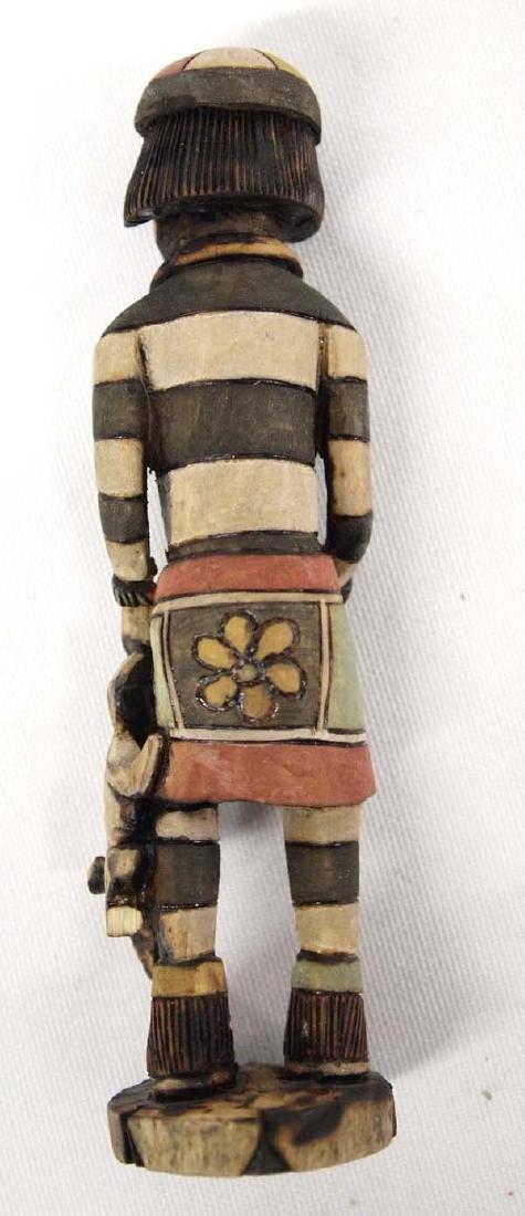 Hopi Carved Wood Koshare Clown Kachina by Dewayne - 2