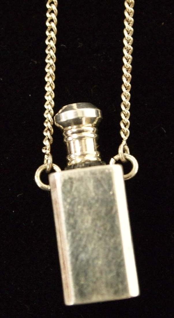 Sterling Silver Perfume Pendant Necklace