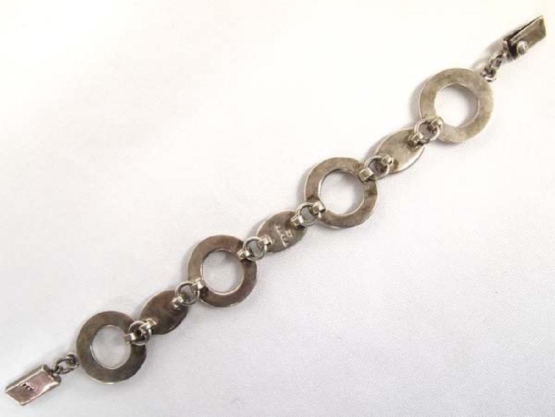 Vintage Mexican Taxco Sterling Link Bracelet - 2