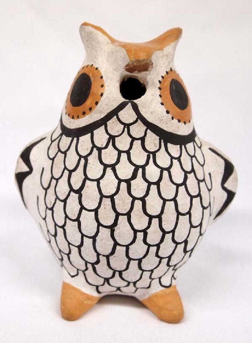 Vintage Acoma Pottery Owl by R. H. Torivio