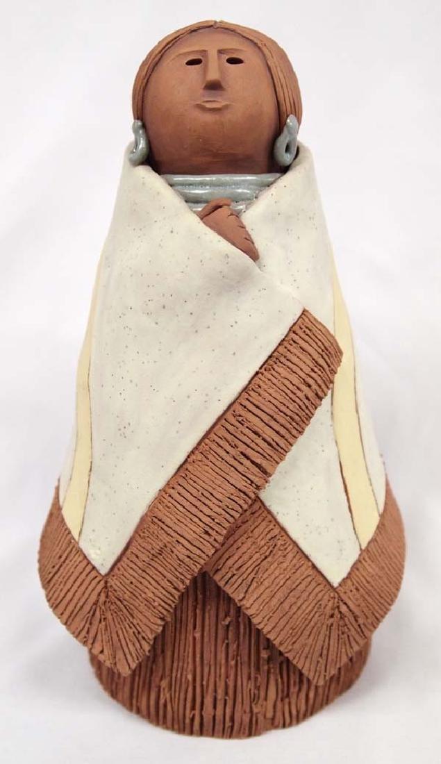 1982 Esya Bain Pottery Pueblo Woman Sculpture