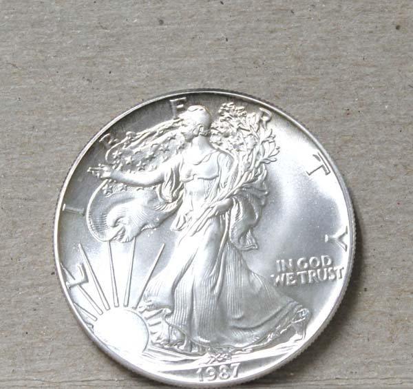1987 Silver Eagle Dollar