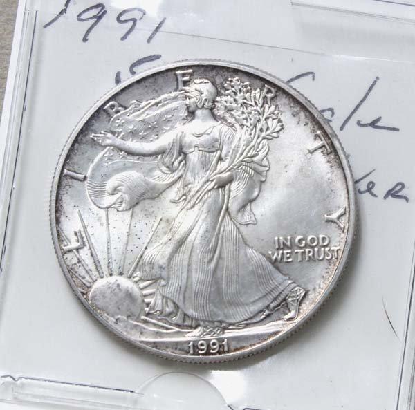 1991 Silver Eagle Dollar