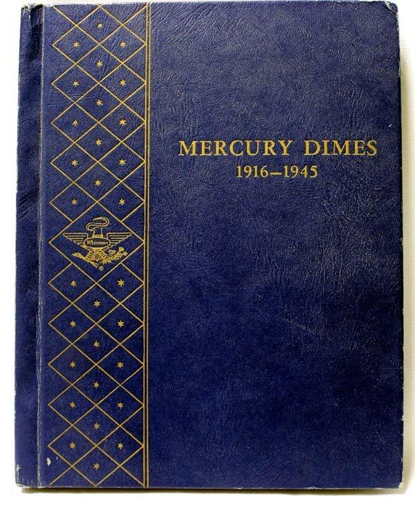 1 Book of 56 Silver Mercury Dimes 1916-1945S - 3