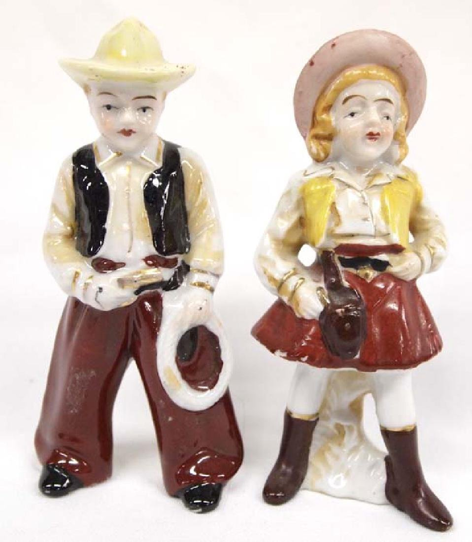 Vintage Occupied Japan Cowboy & Cowgirl Figurines