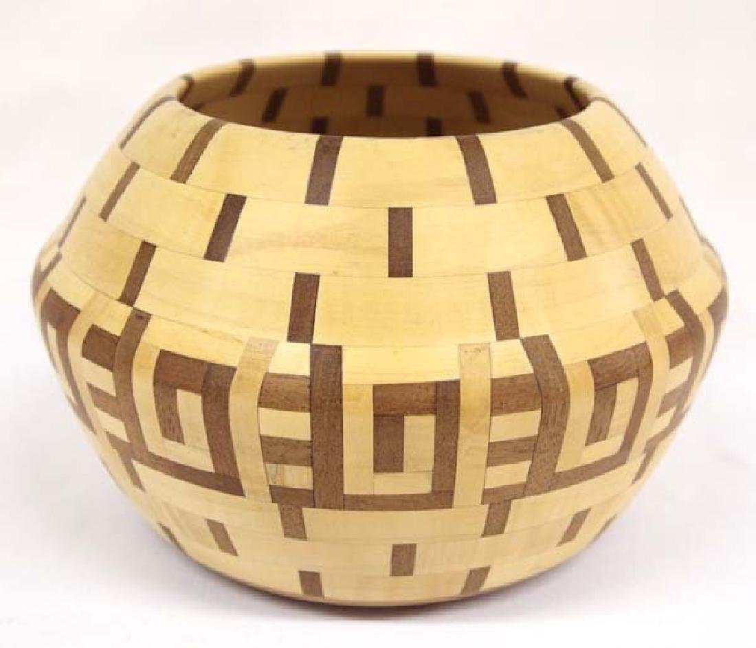 2004 Hand Crafted Inlay Wood Bowl by Walt Wyche