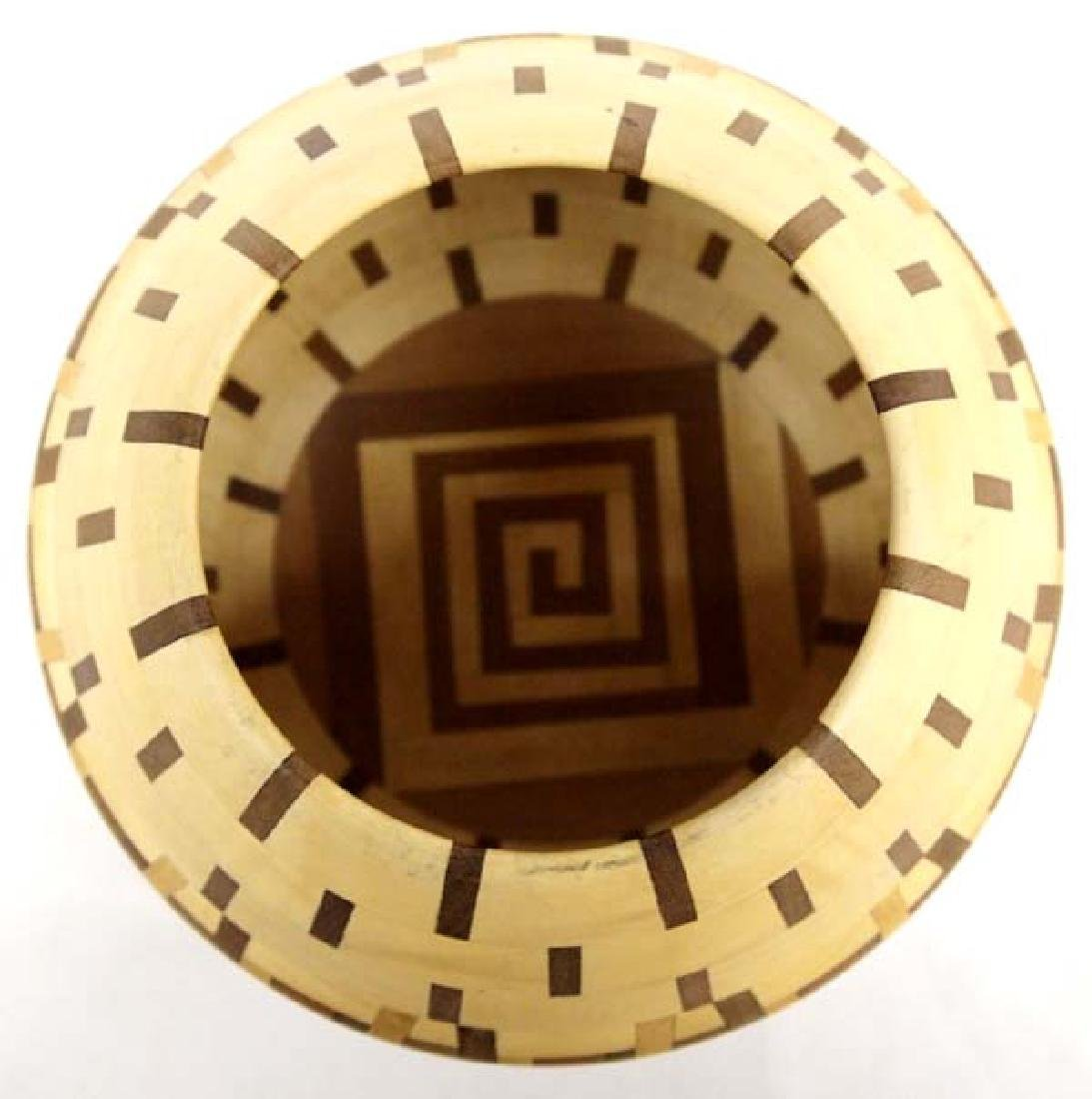 2004 Hand Crafted Inlay Wood Bowl by Walt Wyche - 2