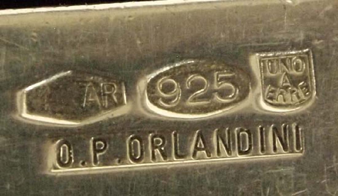 Italian Milar Sterling Silver Link Bracelet - 2