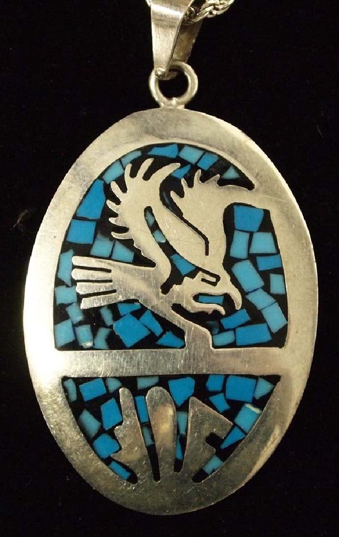 Mexican Taxco Sterling Silver Pendant Necklace