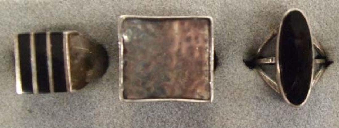5 Mexican Sterling Silver Rings - 2