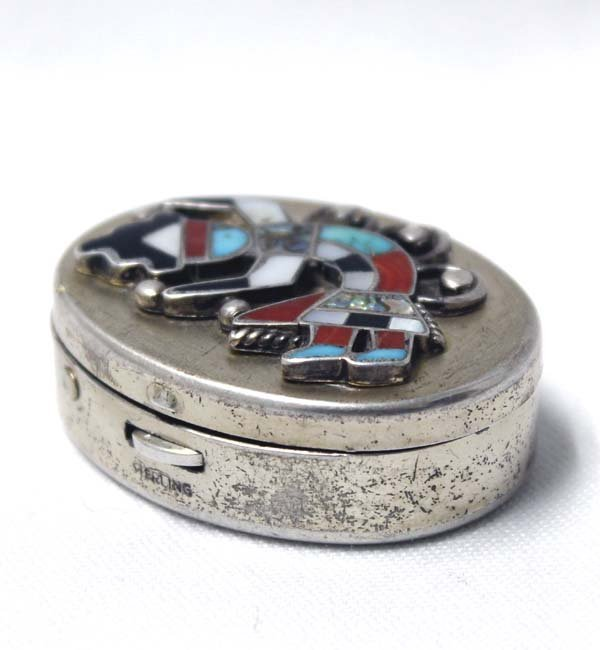 Marhill Sterling Silver Rainbow Man Pill Box - 2