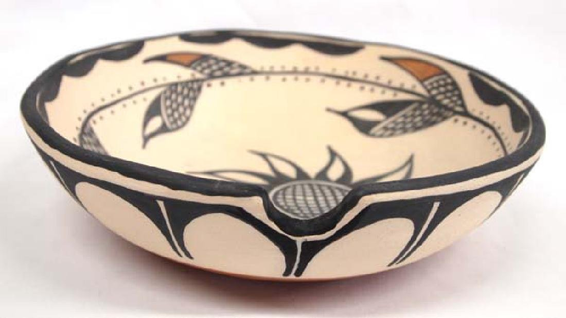Santo Domingo Pottery Dough Bowl by Connie T. - 2