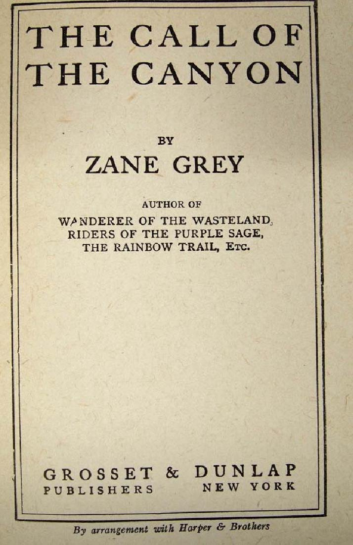 The Call of the Canyon by Zane Grey, Hardback Book - 2