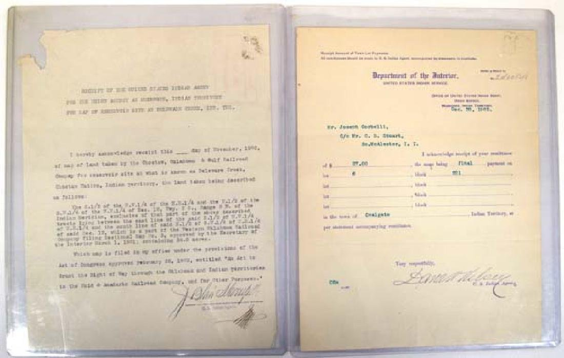 2 Antique Indian Agent Documents