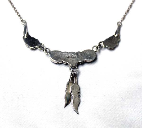 Navajo Sterling Silver & Onyx Necklace - 3