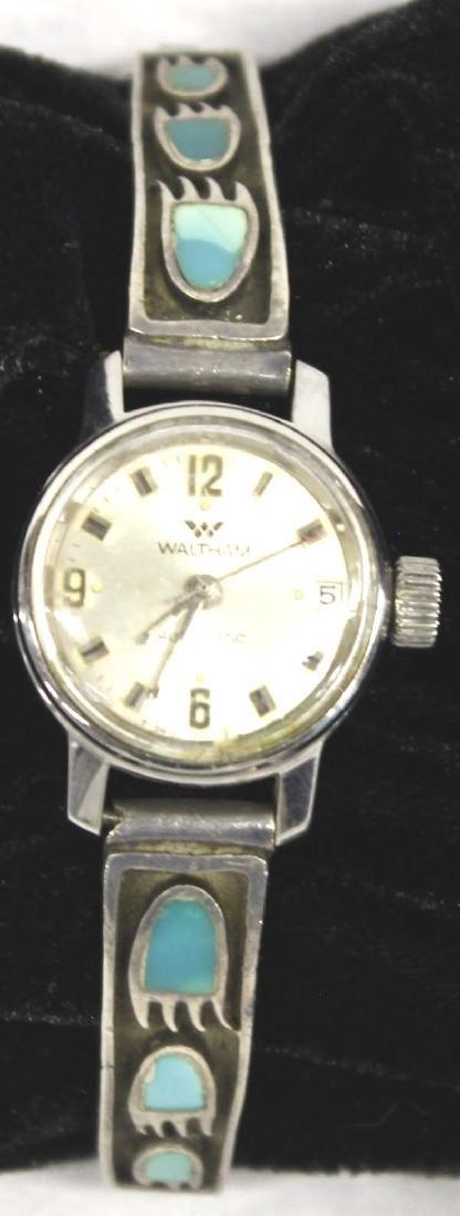 Navajo Sterling Silver Bear Foot Watch Band