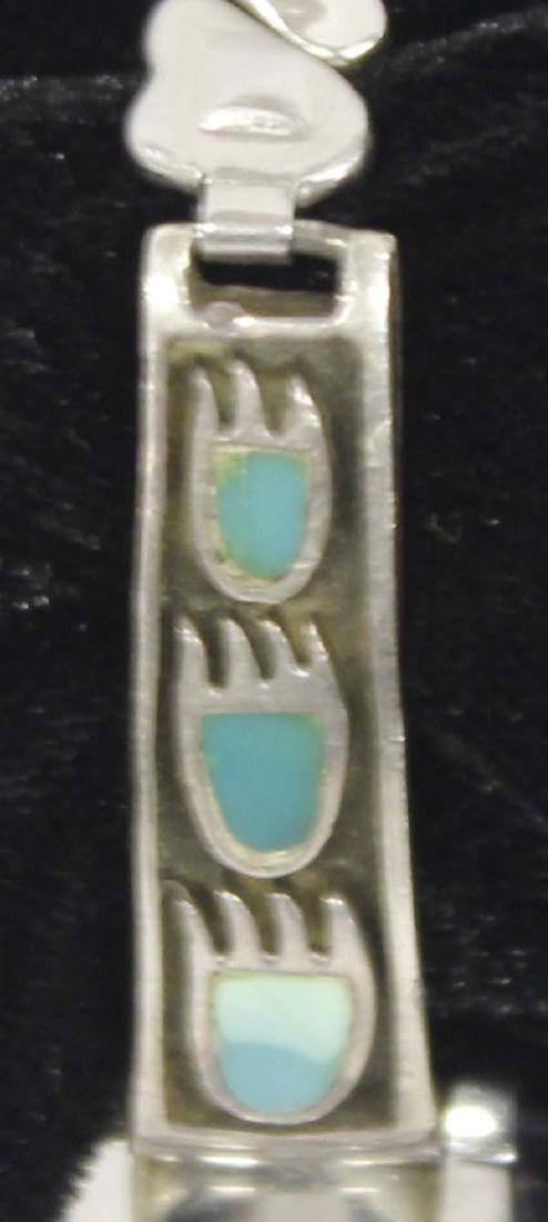 Navajo Sterling Silver Bear Foot Watch Band - 2