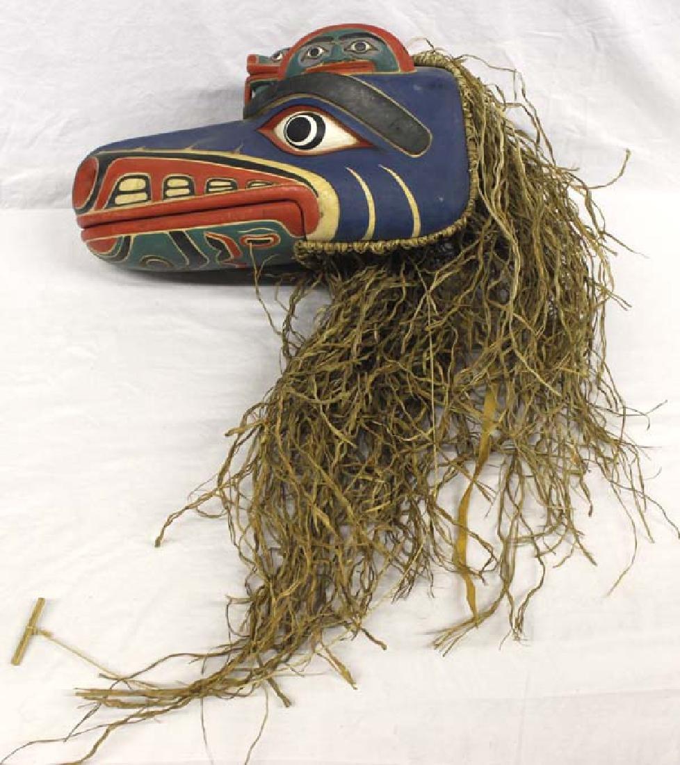Carved Northwest Coast Style Mask