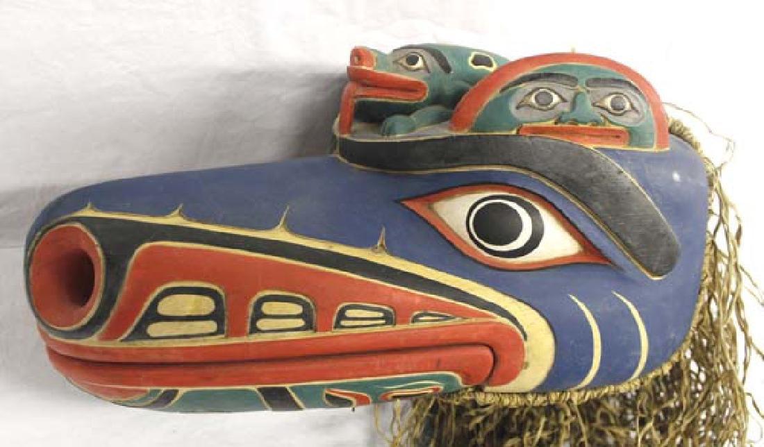 Carved Northwest Coast Style Mask - 2