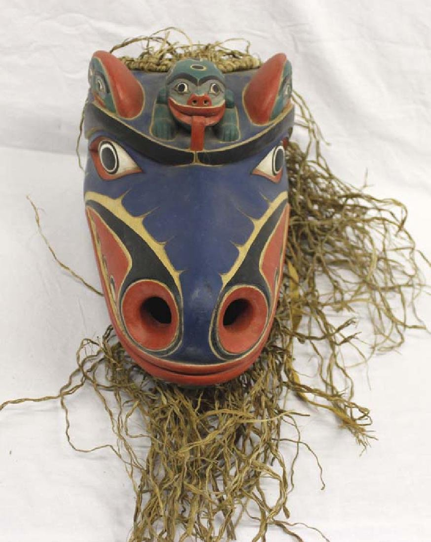 Carved Northwest Coast Style Mask - 3