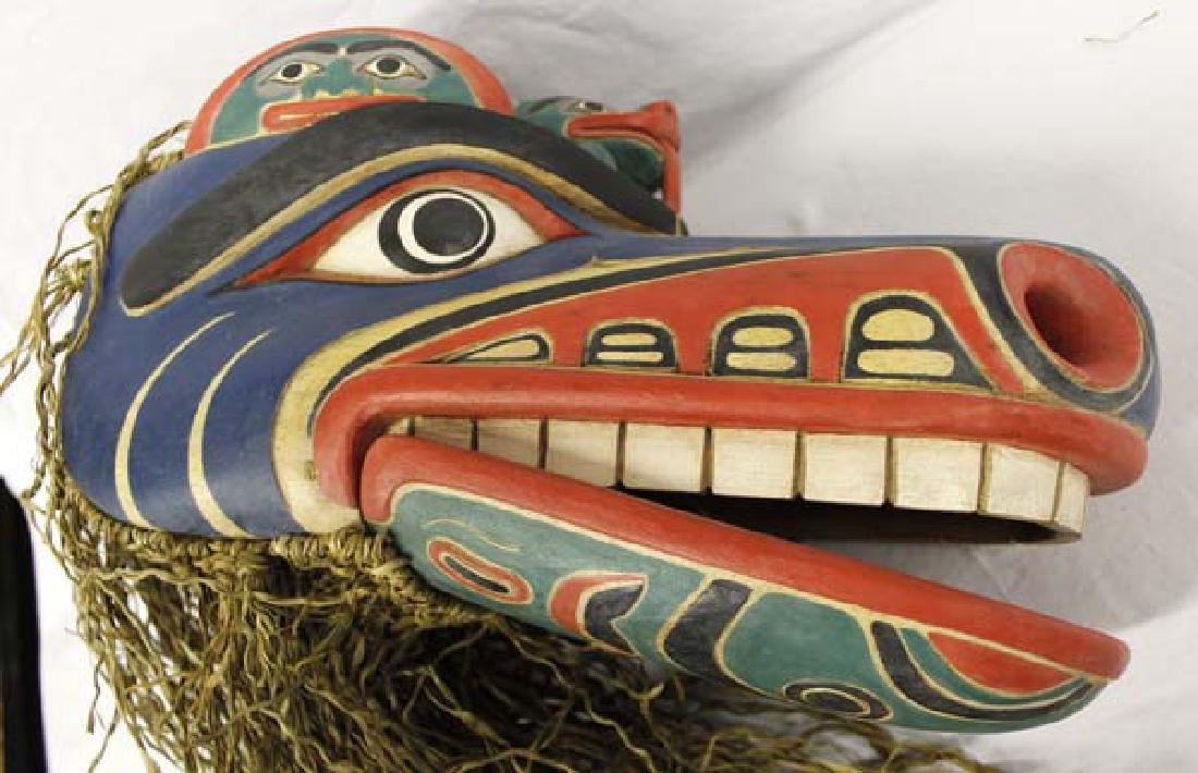 Carved Northwest Coast Style Mask - 4