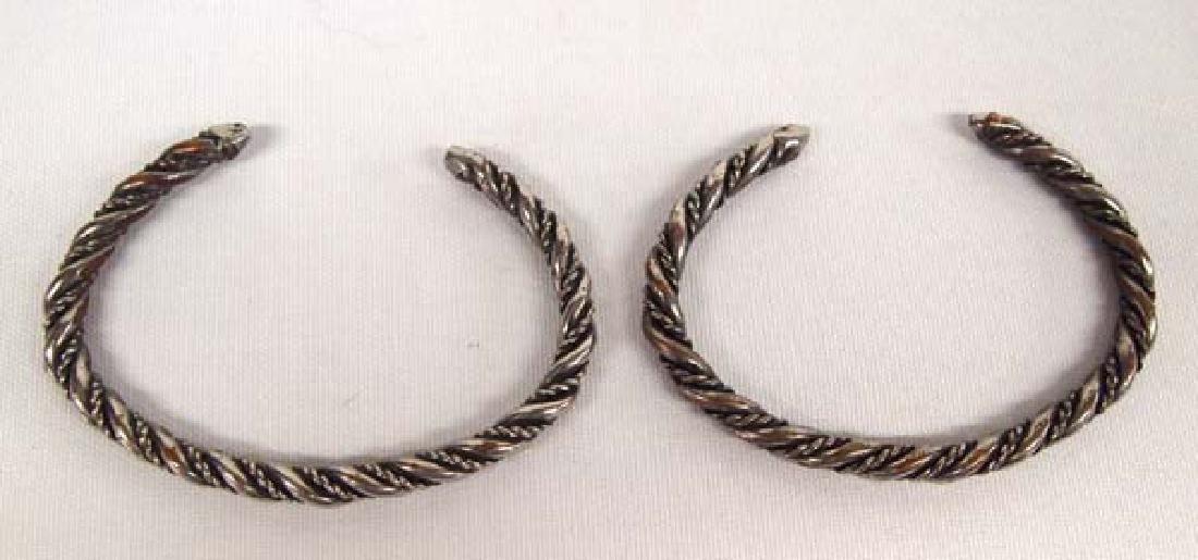 2 Navajo Sterling Silver Guard Bracelets