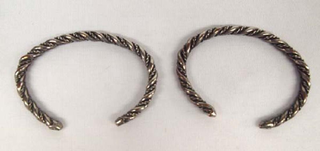 2 Navajo Sterling Silver Guard Bracelets - 2