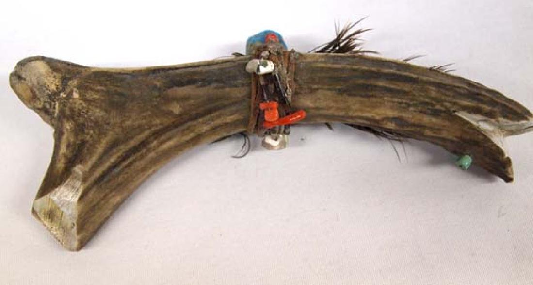 Vintage Native American Carved Antler Fish Fetish - 3