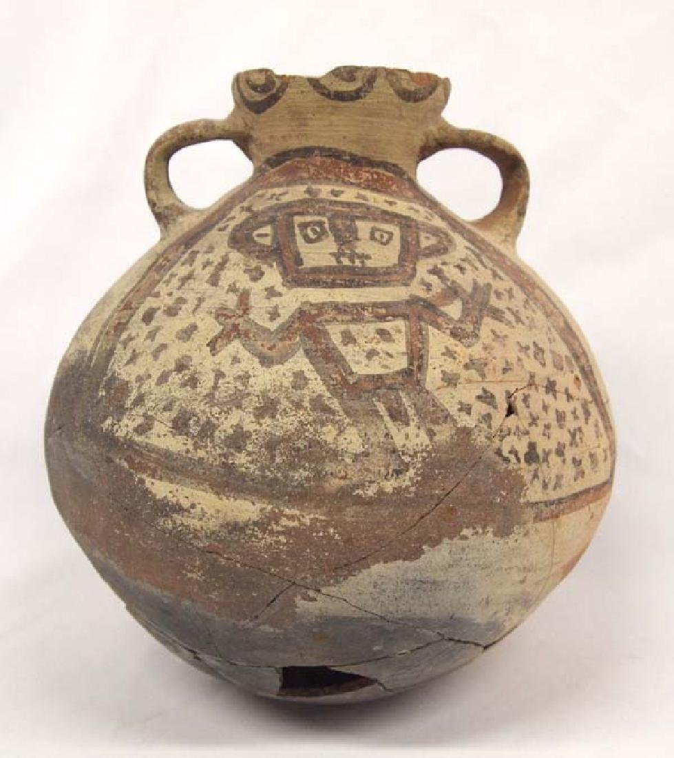 Prehistoric PreColumbian Pottery Pictorial Figural Pot