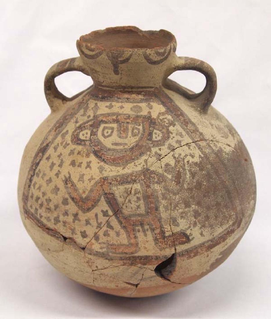 Prehistoric PreColumbian Pottery Pictorial Figural Pot - 3
