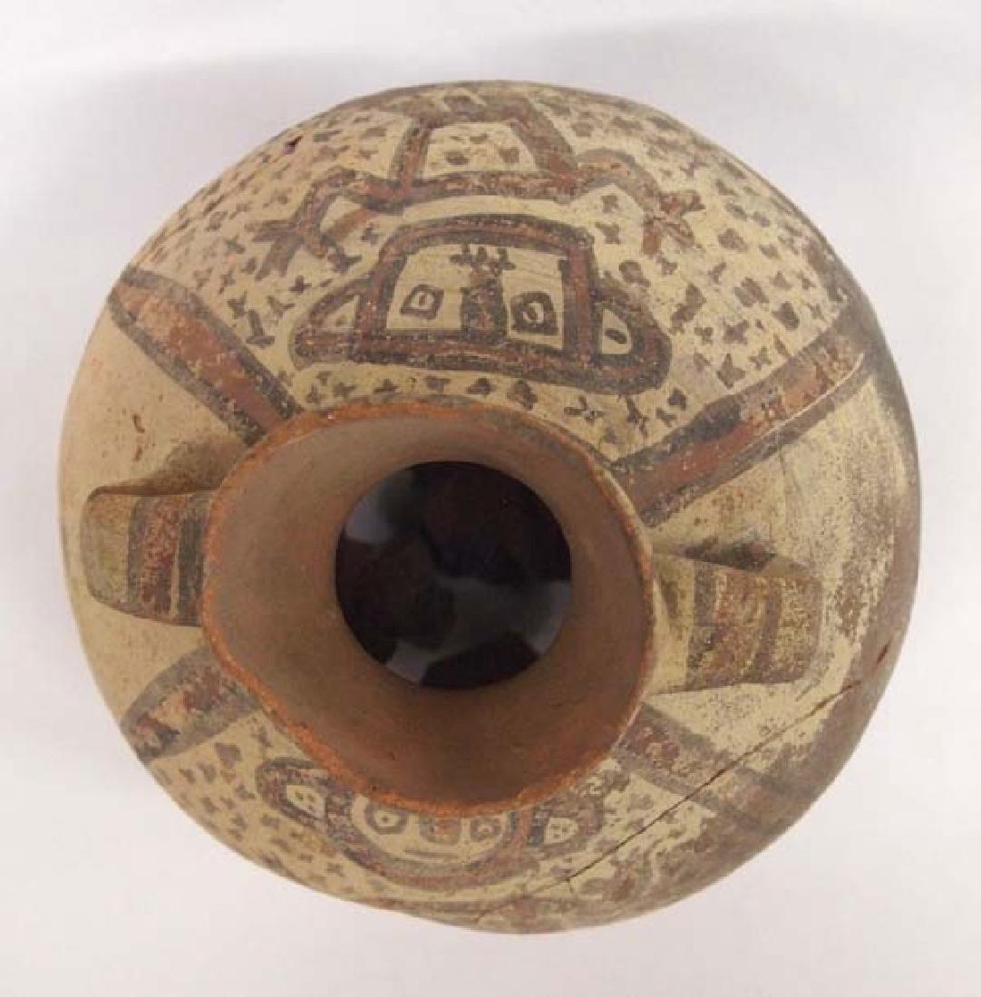 Prehistoric PreColumbian Pottery Pictorial Figural Pot - 4