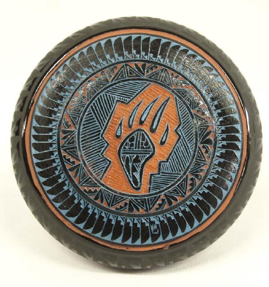 Navajo Carved Pottery Jar - 3
