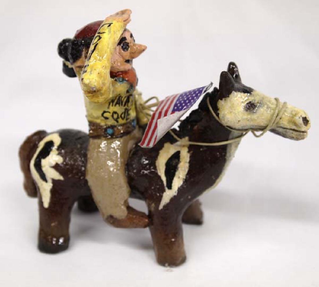 Navajo Code Talker Folk Art Pottery by J. Chee - 2