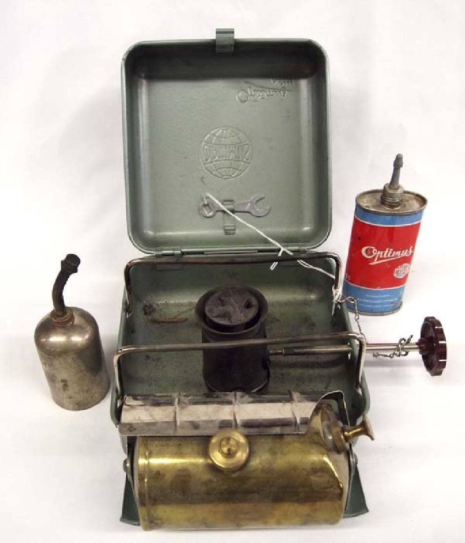 Vintage Swedish Optimus Gas Camp Stove