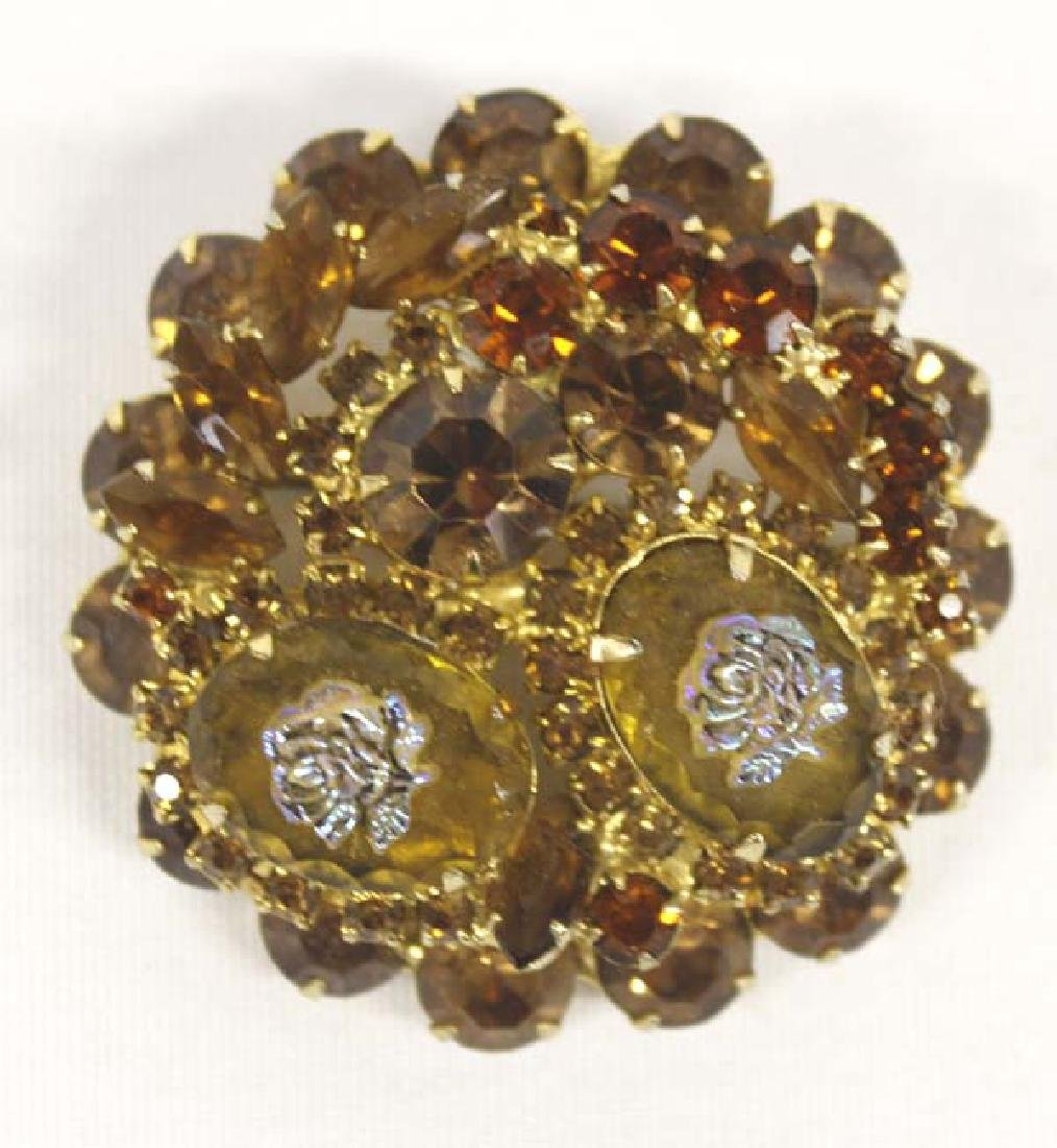 Antique Estate Citrine & Iridesent Rose Jewelry - 2