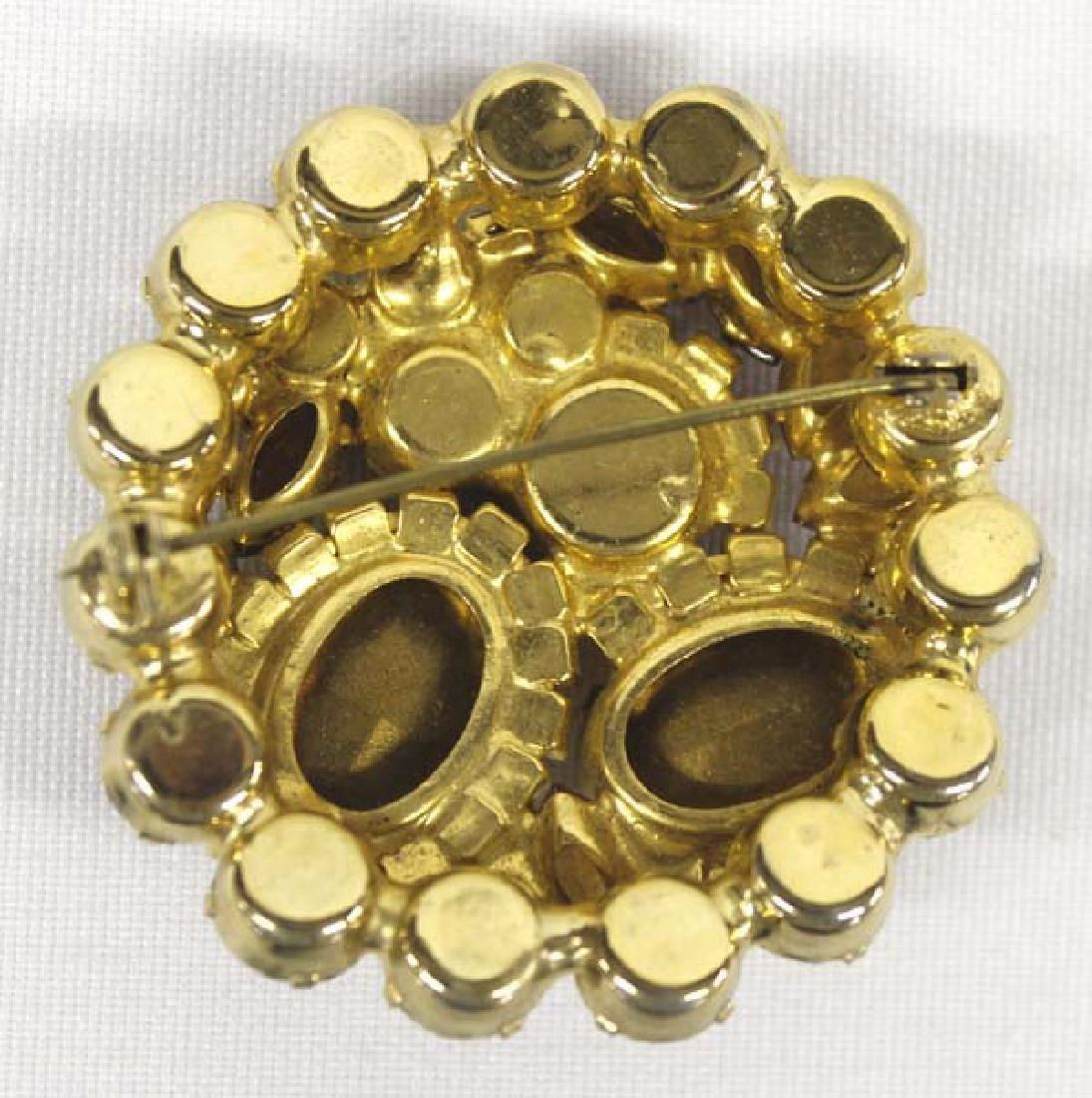Antique Estate Citrine & Iridesent Rose Jewelry - 3