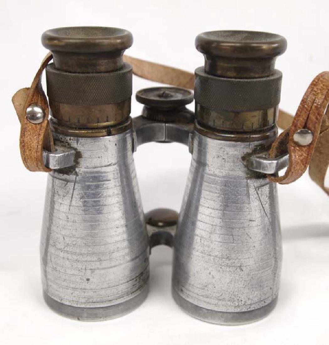 Antique WWI German Brass & Aluminum Binoculars