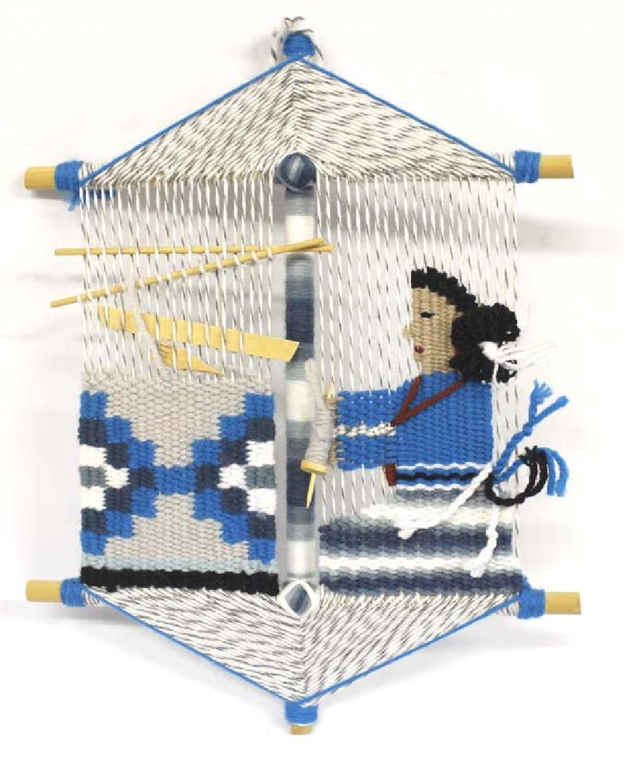 Navajo Rug Weaver Wall Hanging