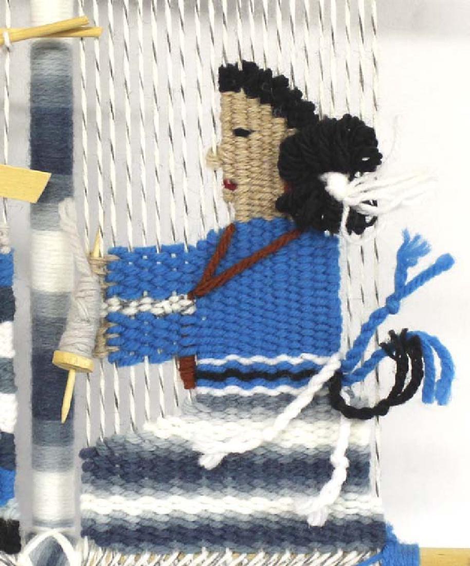 Navajo Rug Weaver Wall Hanging - 2