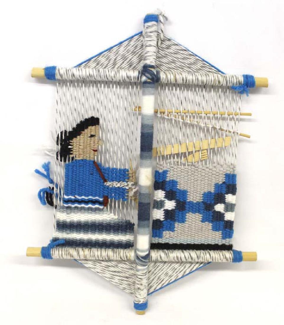 Navajo Rug Weaver Wall Hanging - 3